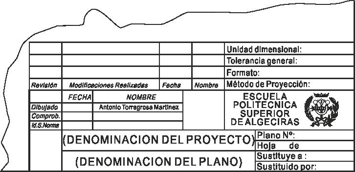 8.03. Cuadro de Rotulación (UNE-EN ISO 7200:2004)
